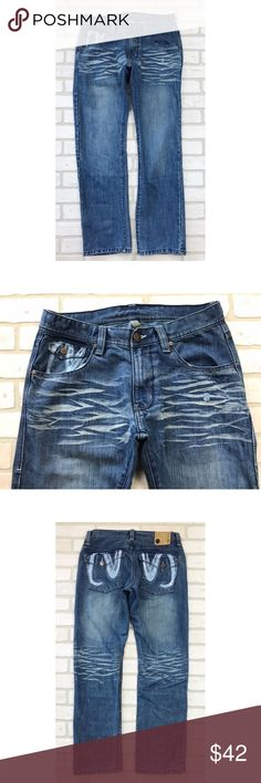 e410934e5d3da7 Jordan Craig Distressed Flap Pocket Mens Jeans Distressed style in great  condition. Size  34