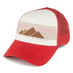 f5cd0ca318710 The North Face Hats Womens Low Pro Trucker Cap - Red-White