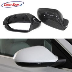 Fits Audi A6 S6 RS6 w//o Lane Assist  Side Mirror Cover 13-16 Carbon Replacement