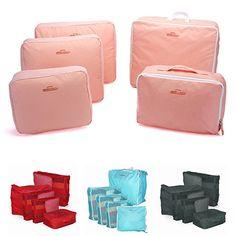 5 Pcs Set Travel Clothes Nylon Storage Bags Underwear Organizers Tidy Pouch Bags #Affiliate