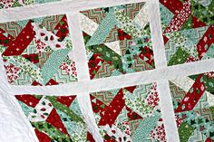 Finished Christmas Quilt by craftnursequilt, via Flickr Used missouri star quilt co. 3 dudes jelly roll quilt pattern, just added sashing