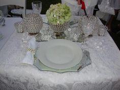 a very elegant table setting from Diner en Blanc Cincinnati, 2012.