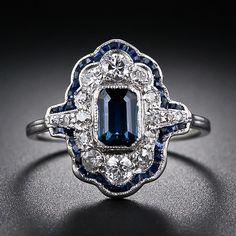 Wedding Inspirations | Something Blue | UBetts Rental & Design | Sapphire Art Deco Ring