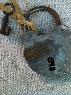 Large French Antique Lock and Key Tongue & Cheek Antiques Under Lock And Key, Key Lock, Polaroid, Old Door Knobs, Magical Images, Doorbells, Old Keys, Skeleton Keys, Take The Stairs