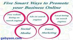gabyn886@gmail.com, whatsapp +918095818147 Five smart ways to promote your business online marketing your business…