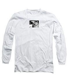 Wave Set Original Acrylic On Canvas Long Sleeve T-Shirt featuring the painting Wave Set Black And White by Expressionistartstudio Priscilla-Batzell