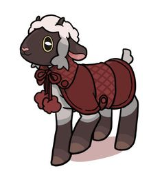 Kawaii Wooloo in a little coat, it's a mori girl look for her. Ghost Pokemon, Pokemon Ships, Pokemon Memes, New Pokemon, Cool Pokemon, Pokemon Stuff, Pokemon Breeds, Pokemon Game Characters, Anime Lock Screen
