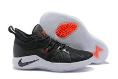 newest 009a6 6bf3b Delicate Nike PG 2 EP Paul George Black White Solar Red Black AJ2039 003 Men s  Basketball