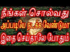 நீங்கள் சொல்வது அப்படியே நடக்க வேண்டுமா இதை செய்தாலே போதும் | Sattaimuni Nathar - YouTube