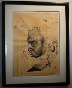 Wanderauge, Mischtechnik auf Papier, 50 x 69 cm, 2007 Privatsammlung