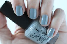 OPI Fifty Shades Of Grey - Cement The Deal Swatch via @FabFatale