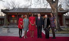 Michelle, Sasha and Malia visit China #DailyMail