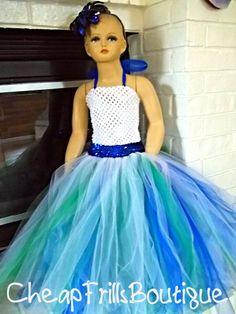 Feather boa tutu dress super full pageant 2t 3t 4t tutu dresses