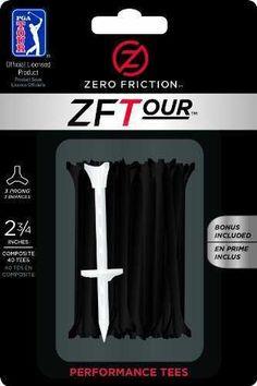 """Zero Friction Golf Tees 2 3/4"""""""" - Orange"""