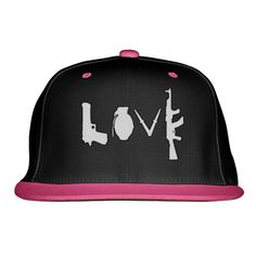 Love Guns Embroidered Snapback Hat
