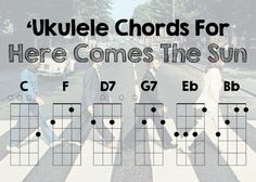 Ukulele Chords For Here Comes The Sun By The Beatles