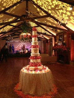 Amazing 6 foot Tall Wedding Cake by Gia's Cakes