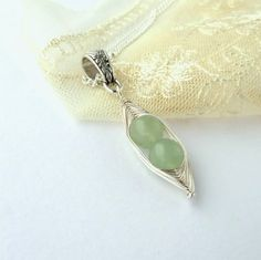Handmade necklace peas in a pod aventurine by BeadstormJewellery