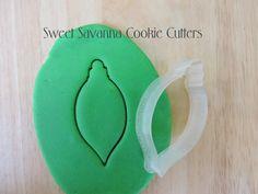 Christmas Bauble No.8 Cookie Cutter by SweetSavannaCookies on Etsy