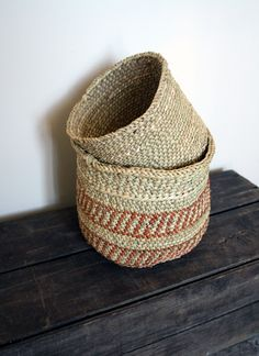 Handmade woven baskets from Tanzania.