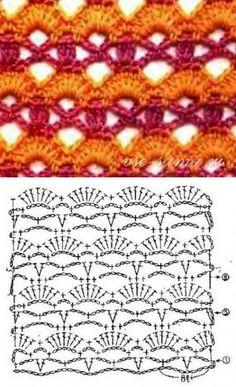 Узор крючком - разноцветье - Многоцветные узоры, жаккардовые узоры крючком