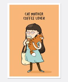 New Funny Mom Cards People Ideas Crazy Cat Lady, Crazy Cats, I Love Cats, Cute Cats, Comic Cat, Cat Comics, Funny Comics, Pet Sitter, Mom Cards