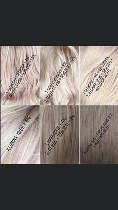 Blonde Hair At Home, Ashy Blonde Hair, Blonde Color, Hair Color Guide, Hair Color Formulas, Hair Color Swatches, Bleaching Your Hair, Silver Grey Hair, Bleached Hair
