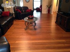 Like your favorite pair of well-worn jeans, Distressed Mocha Fossilized® bamboo flooring has just the right amount of character to make your home feel like your own comfy haven. A beautiful amber color, this floor is a subtly hand distressed version of our popular Mocha, perfect for adding a touch of