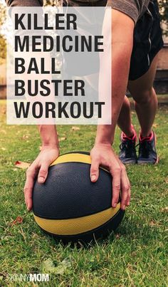 Grab your medicine ball and get to work! Try these moves for a killer total body workout!