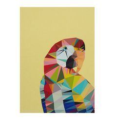 Peaches the Macaw Unframed Print A3 - Matt Blatt