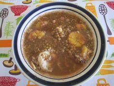 Sopa de lentejas Incluida en Recetas fáciles y saludables para mamás ocupadas  www.CocinandoConRoxy.com
