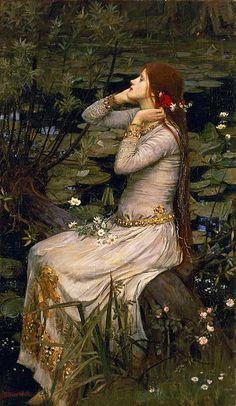 Ophelia (By The Pond) John William Waterhouse, 1894 by Öpheliä,