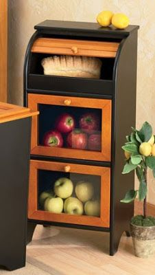 Jeri's Organizing & Decluttering News: Bins, Baskets and Racks for Fruits and Veggies Potato Storage, Fruit And Vegetable Storage, Bread Storage, Vegetable Bin, Fruit Storage, Storage Boxes, Basket Storage, Onion Storage, Diy Outdoor Kitchen