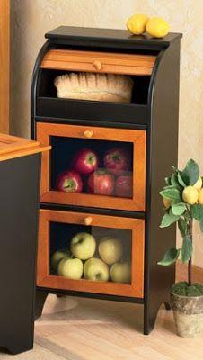 Potato Storage, Fruit And Vegetable Storage, Vegetable Bin, Bread Storage, Fruit Storage, Storage Boxes, Basket Storage, Onion Storage, Diy Outdoor Kitchen