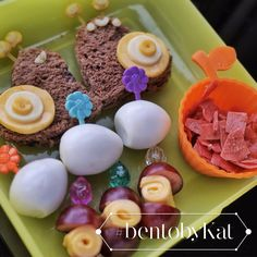 Day 9: September 12, 2014  Snack:  Brown choco bread snails with cheese decoration Quail eggs Grapes and cheese Fruit yogurt leather