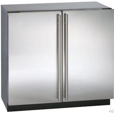 U-Line 36 Inch Undercounter All-Refrigerator with cu. Capacity, 6 Removable Drawer Bins, Dual Zone Convection Cooling, LED Lighting and Gallon Storage: Stainless Steel Undercounter Refrigerator, Küchen Design, House Design, Refrigerator Decoration, Online Home Design, Slide Out Shelves, Home Design Magazines, Built In Furniture, Kitchens