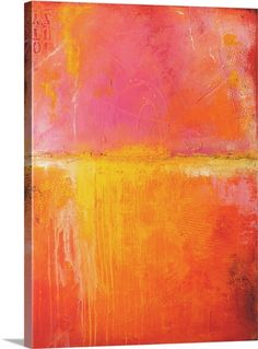 """Large contemporary abstract artwork in warm, intense colors - """"Spicy Love Child"""" wall art by Erin Ashley from Great BIG Canvas"""