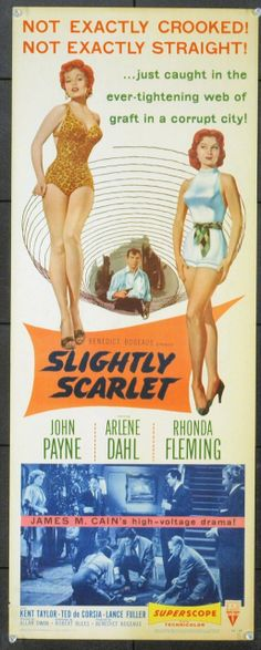 MovieArt Original Film Posters - SLIGHTLY SCARLET (1950) 6712, $90.00 (http://www.movieart.com/slightly-scarlet-1950-6712/)