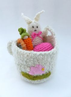 Easter basket set Waldorf inspired bunny duck by greenmountain
