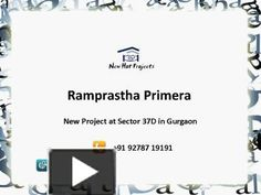 Ramprastha Primera new township with the new concept offers 3 BHK luxury apartments in Gurgaon. Call @ 9278719191