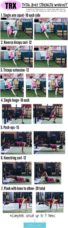 "The end of the week is here and it's time for some Fitness Friday motivators for you! This TRX workout from this Fitnessista is one that I've added to my list of ""must try immediately"". I've never taken a TRX […] Fitness Workouts, Fitness Motivation, Sport Fitness, At Home Workouts, Fitness Tips, Workout Exercises, Body Fitness, Workout Routines, Total Body Workouts"