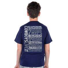 Dallas Cowboys Youth Live It Stats T-Shirt 1ee3bb2f7