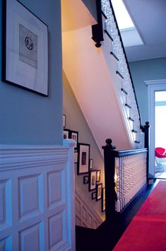 awesome idea for upstairs and downstairs, I like these stairs!