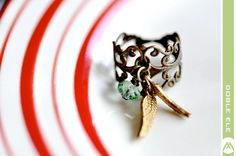 Customizable Angel Ring Available in 11 Colors by DobleEle, via Etsy.