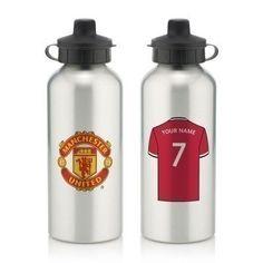 Personalised Manchester United Aluminium Water Bottle (600ml) #ManchesterUnited #FootballGifts #Football #MUFC £12.99