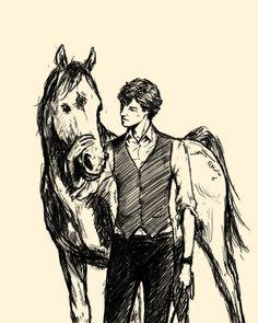 Sherlock fan art. With a horse. That is all.