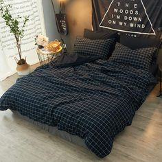 AMWAN Soft Plaid Twin Duvet Cover Set for Kids Boys Lightweight Washed Cotton Bedding Set Hotel Quality Grid Checkered Duvet Comforter Cover Set 1 Duvet Cover with 2 Pillowcases Twin Bedding Set Dream Rooms, Dream Bedroom, Tiki Bars, Cute Bedroom Decor, Gold Bedroom, Aesthetic Room Decor, Design Set, New Room, Bed Sets