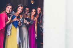 friends of the bride, dresses, colours, wedding day