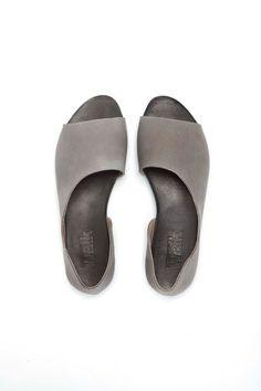Grey summer shoes Open toe woman shoes by WalkByAnatDahari on Etsy