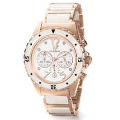 Folli Follie rose gold and ceramic watch Trendy Jewelry, Women Jewelry, Rose Gold Watches, Rose Gold Plates, Chronograph, Bag Accessories, Jewelry Watches, White Gold, Jewellery